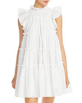 En Saison - Eyelet Tiered Mini Dress