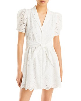 AQUA - Eyelet Shirt Dress - 100% Exclusive