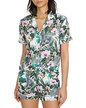 Lenox Hibiscus Print Pajama Shorts Set