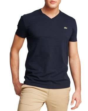 Lacoste Solid V-Neck Tee thumbnail