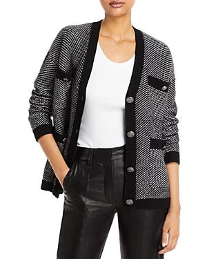 Tweed Cashmere Cardigan