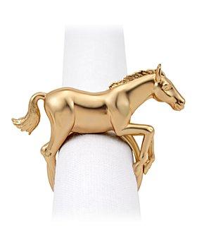 L'Objet - Horse Napkin Jewels, Set of 4