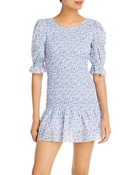 LoveShackFancy - Luppa Cotton Printed Mini Dress