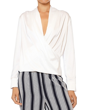 Draped V-Neck Blouse (33% off) Comparable value $75