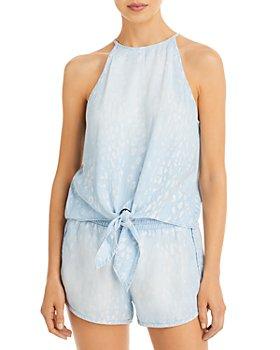 Bella Dahl - Tie Front Top & Sporty Shorts