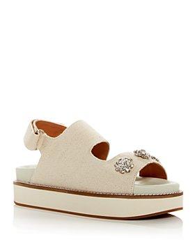 GANNI - Women's Juta Embellished Slingback Sandals