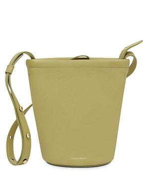 Mansur Gavriel Mini Zip Leather Bucket Bag