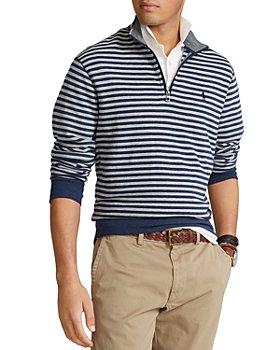 Polo Ralph Lauren - Striped Jersey Quarter Zip Pullover