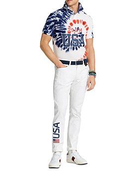 Polo Ralph Lauren - Team USA Tie-Dye Mesh Polo Shirt & Closing Ceremony Sullivan Slim Fit Jeans