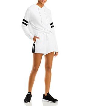 AQUA - Stripe Sleeve Hoodie & Shorts - 100% Exclusive