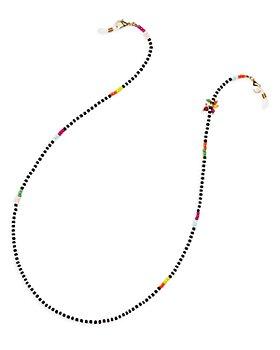 "AQUA - Multicolor Beaded Sunglass & Face Mask Chain in Gold Tone, 26.5"" - 100% Exclusive"
