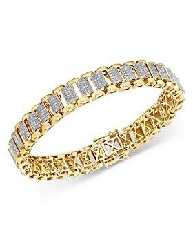 Bloomingdale's - Men's Pave Diamond Link Bracelet in 14K Yellow Gold, 4.0 ct. t.w. - 100% Exclusive