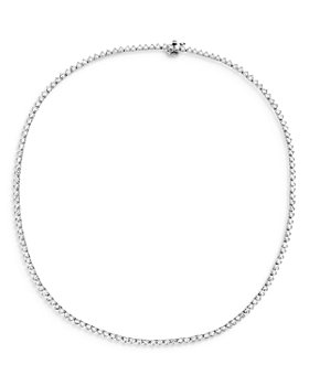 Bloomingdale's - Diamond Tennis Necklace in 14K White Gold, 6.0 ct. t.w - 100% Exclusive