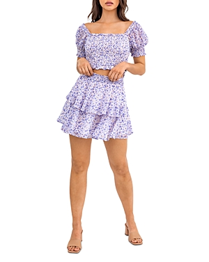 Layered Floral Mini Skirt (13% off)