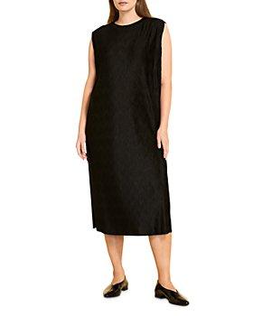 Marina Rinaldi - Occhiata Bark-Effect Crinkle Midi Dress