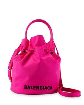 Balenciaga - XS Wheel Drawstring Fluo Bucket Bag