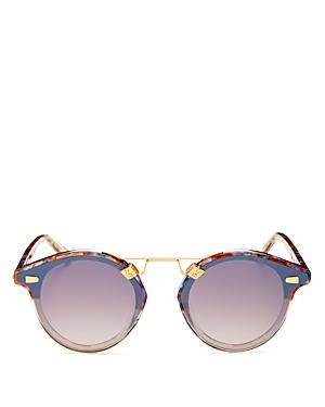 St. Louis Unisex 24K Round Sunglasses