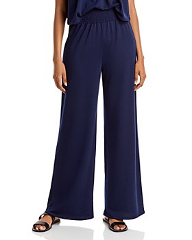 AQUA - Wide-Leg French Terry Pants - 100% Exclusive