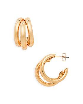 AQUA - Tri Split Hoop Earrings - 100% Exclusive