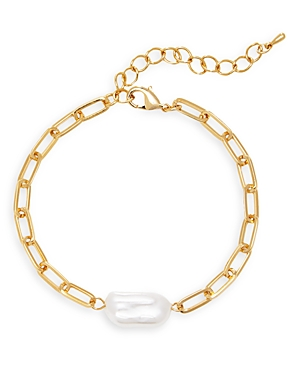 Aqua Chain Simulated Pearl Bracelet - 100% Exclusive