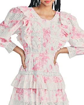 LoveShackFancy - Santorini Floral Print Mini Dress