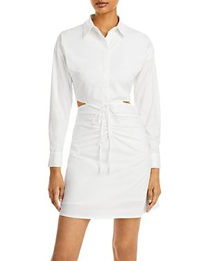 Cutout Ruched Shirt Dress