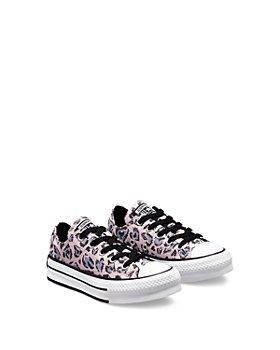 Converse - Girls' Leopard Heart All Star Platform Sneakers - Walker, Toddler, Little Kid