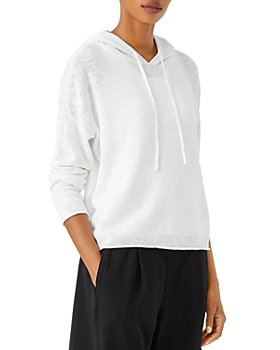 Eileen Fisher - Cropped Sweater Knit Hoodie