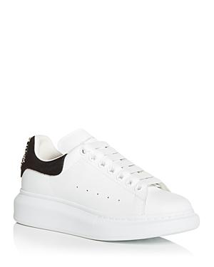 Alexander McQUEEN Women's Oversized Embellished Suede Heel Detail Sneakers