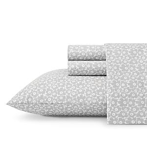 Marimekko Pikkuinen Unikko Grey Cotton Percale Sheet Set, Full