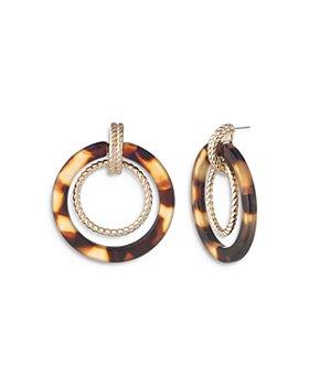 Ralph Lauren - Rope & Tortoise Orbital Drop Earrings in Gold Tone