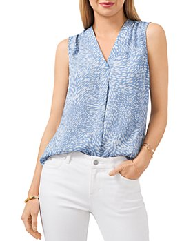 VINCE CAMUTO - Printed Sleeveless Blouse