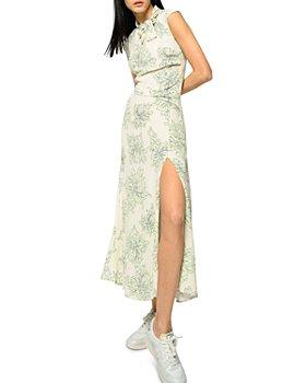 PINKO - Itaca Sleeveless Slit Front Maxi Dress