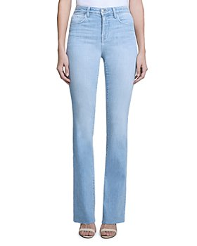 L'AGENCE - Ruth High Rise Straight Leg Jeans in Hilton