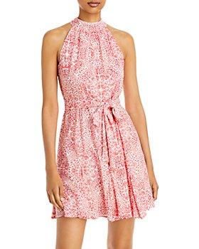 AQUA - Printed Mini Dress - 100% Exclusive
