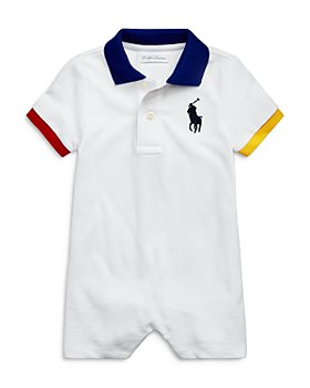 Ralph Lauren - Boys' Piqué Embroidered Shortall - Baby