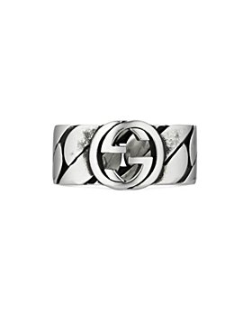 Gucci - Gucci Sterling Silver Interlocking G Statement Ring