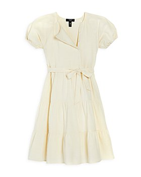 AQUA - Girls' Puff Sleeve Tiered Midi Dress, Big Kid - 100% Exclusive