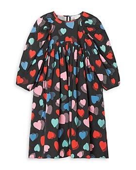 Stella McCartney - Girls' Heart Print Midi Dress - Little Kid, Big Kid