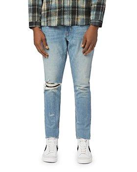Hudson - Zack Skinny Fit Stained Indigo Jeans