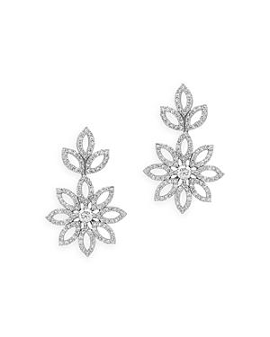 Bloomingdale's Diamond Flower Drop Earrings in 14K White Gold, 2.0 ct. t.w. - 100% Exclusive