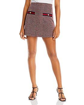 AQUA - Stretch Tweed Mini Skirt - 100% Exclusive