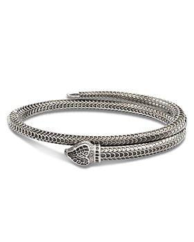 Gucci - Sterling Silver Gucci Garden Snake Motif Coil Bangle Bracelet