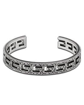 Gucci - Sterling Silver G Cube Filigree Cuff Bracelet