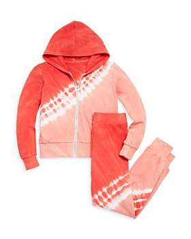AQUA - Girls' Tie Dye Zip Hoodie & Jogger Pants, Big Kid - 100% Exclusive