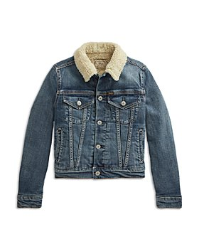 Ralph Lauren - Girls' Faux Shearling Denim Jacket - Little Kid, Big Kid