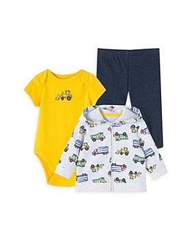 Little Me - Boys' Truck Print Bodysuit, Hoodie & Leggings - Baby
