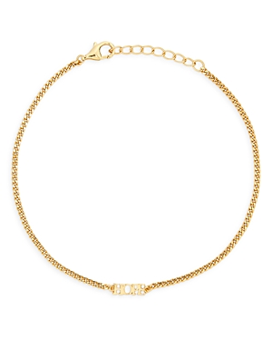 Hope Curb Chain Bracelet in 14K Gold Plated Sterling Silver