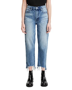 7 For All Mankind - Ripped Cropped Jeans in Monterey Destructed