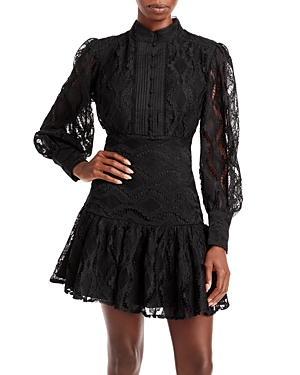 Bardot Remy Balloon-Sleeve Lace Dress